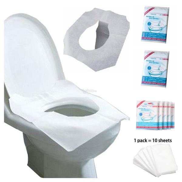 Anti-Bacterial Disposable Toilet Seat Cover Practical Hygiene 2 Packs