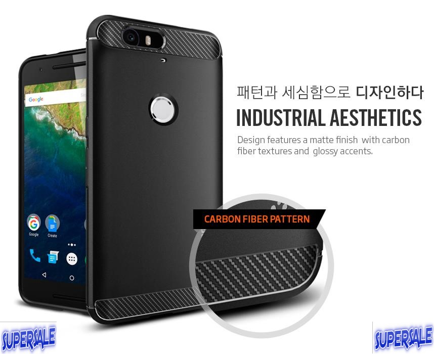 Anti Drop Carbon Fiber Rugged Armor Casing Case Cover Google Nexus 6P
