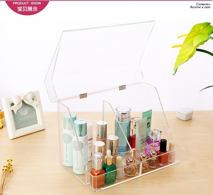 Anti Dust Cosmetics / Skin Care Product Storage Box with Drawer