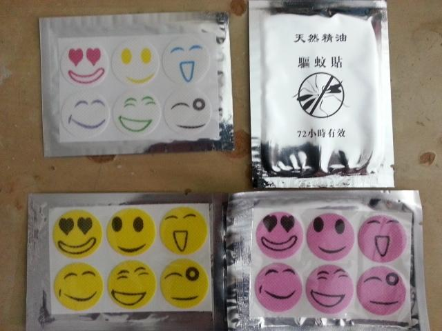 Anti Mosquitoes Smiley Stickers x 6