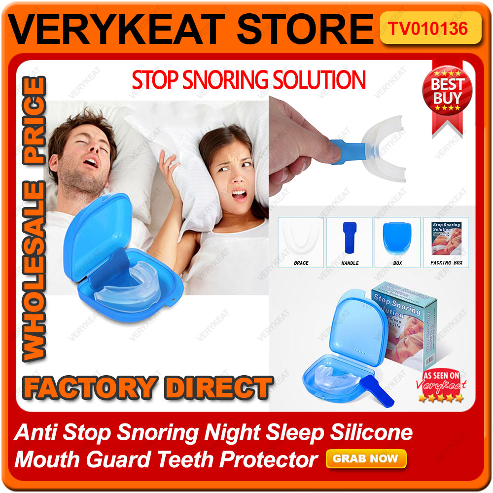 Anti Stop Snoring Night Sleep Silicone Mouth Guard Teeth Protector