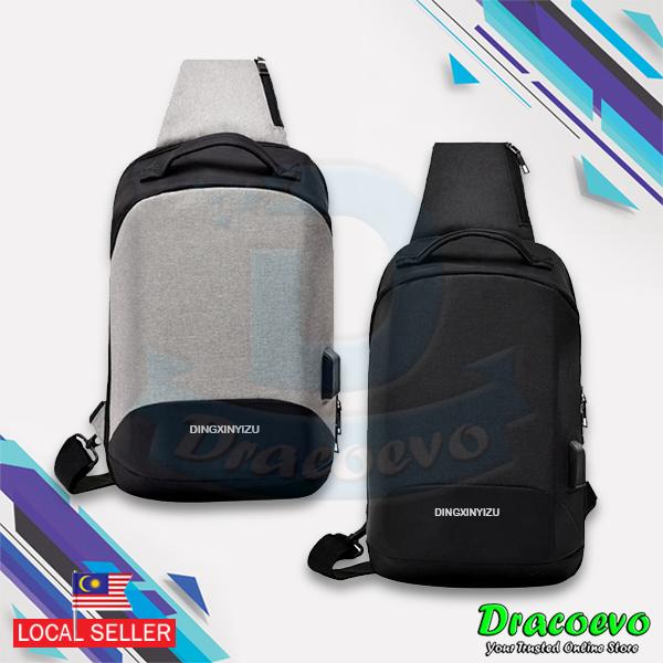 a74ada944 Anti-Theft Canvas Shoulder Chest Bag USB Charging Men Women Travel. ‹ ›