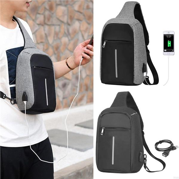Anti Theft Usb Charging Sling Bag Crossbody Travel Beg Bags