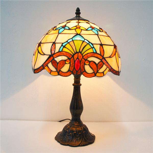 Antique 12 tiffany style stained gla end 512019 129 pm antique 12 tiffany style stained glass table lamp mozeypictures Choice Image