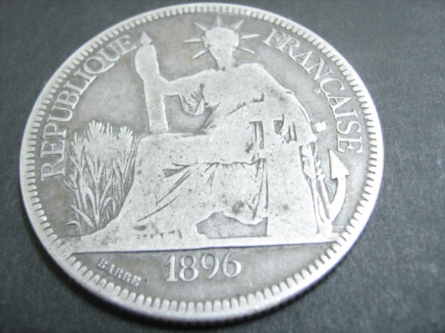 Antique 1896 French Indo-China Silver Coin