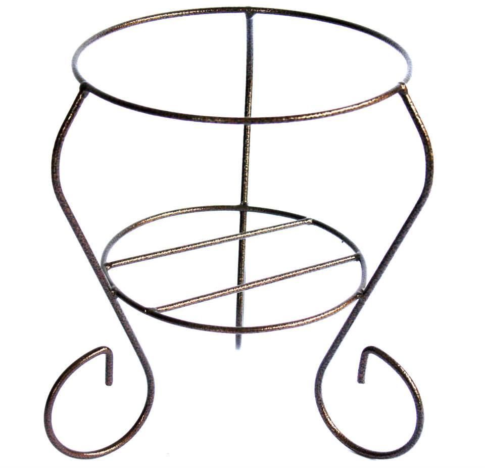 ANTIQUE COLOR FLOWER IRON STAND DIY 411HT KAKI PASU