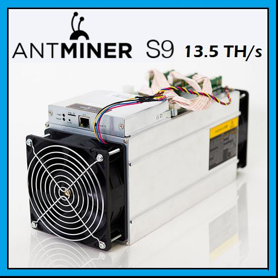 Antminer S9 135TH S Bitcoin Miner
