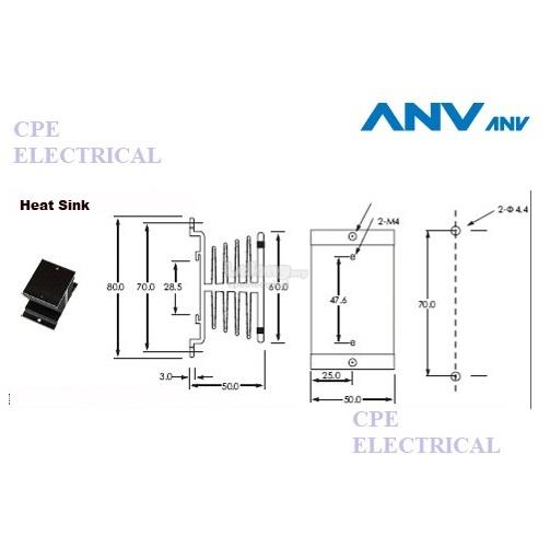 anv ssr-10da dc-ac 10a solid state relay 3-32vdc/24