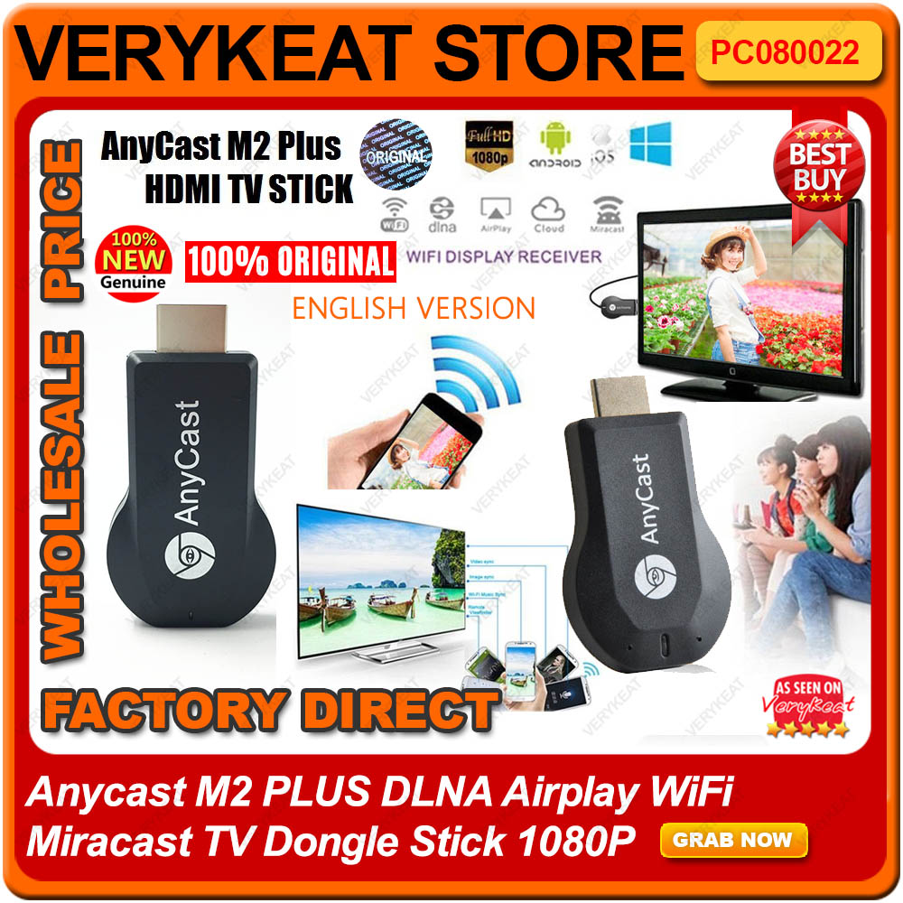 Anycast M2 PLUS DLNA Airplay WiFi Miracast TV Dongle Stick 1080P
