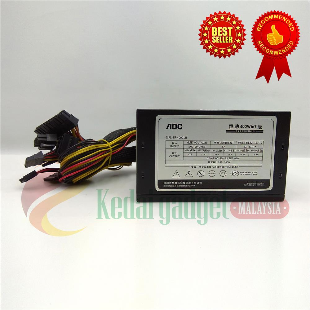 AOC 400W WIN7 Gaming PC Power Supply