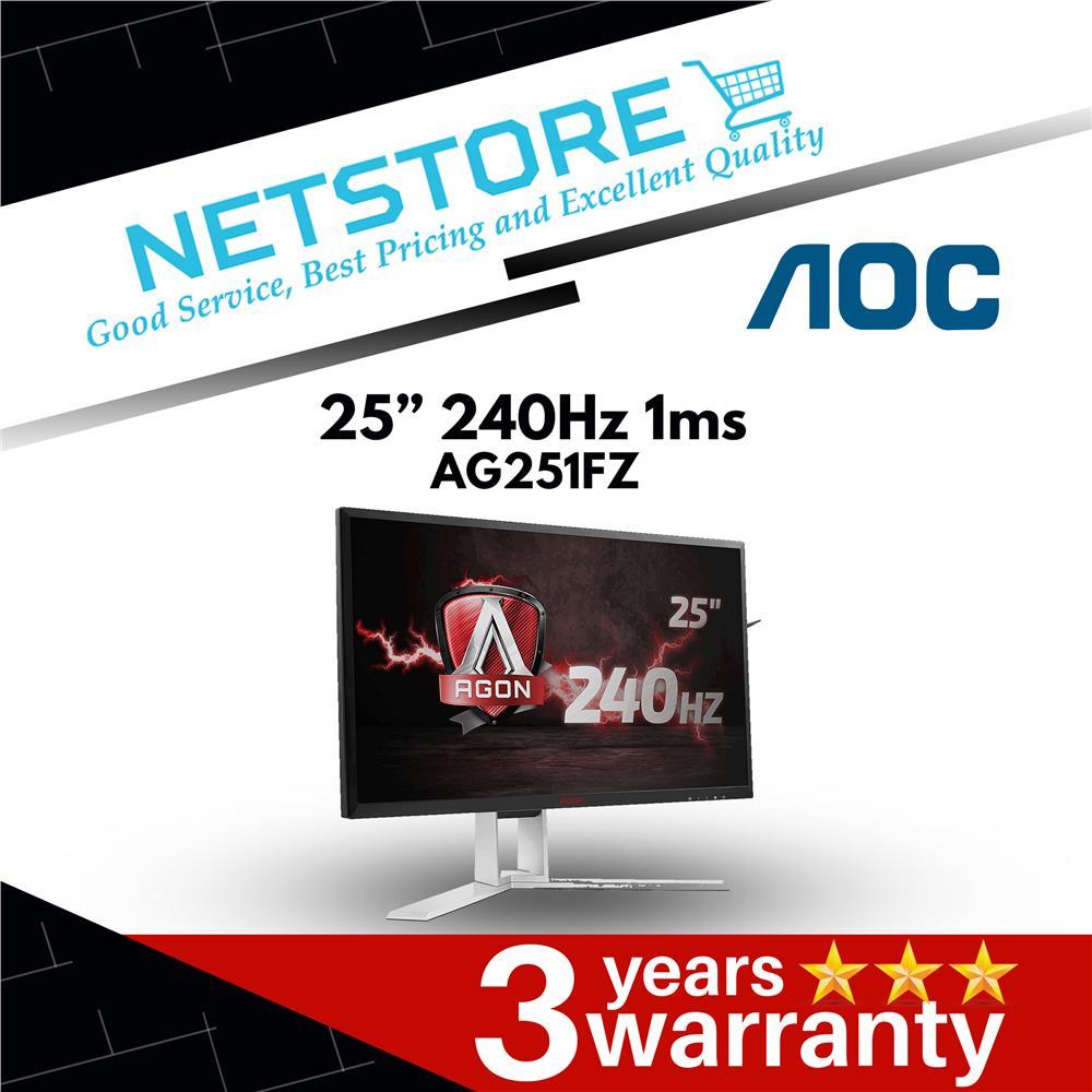 "AOC AGON AG251FZ 25"" 240Hz 1ms - Ultimate FreeSync Gaming Monitor"