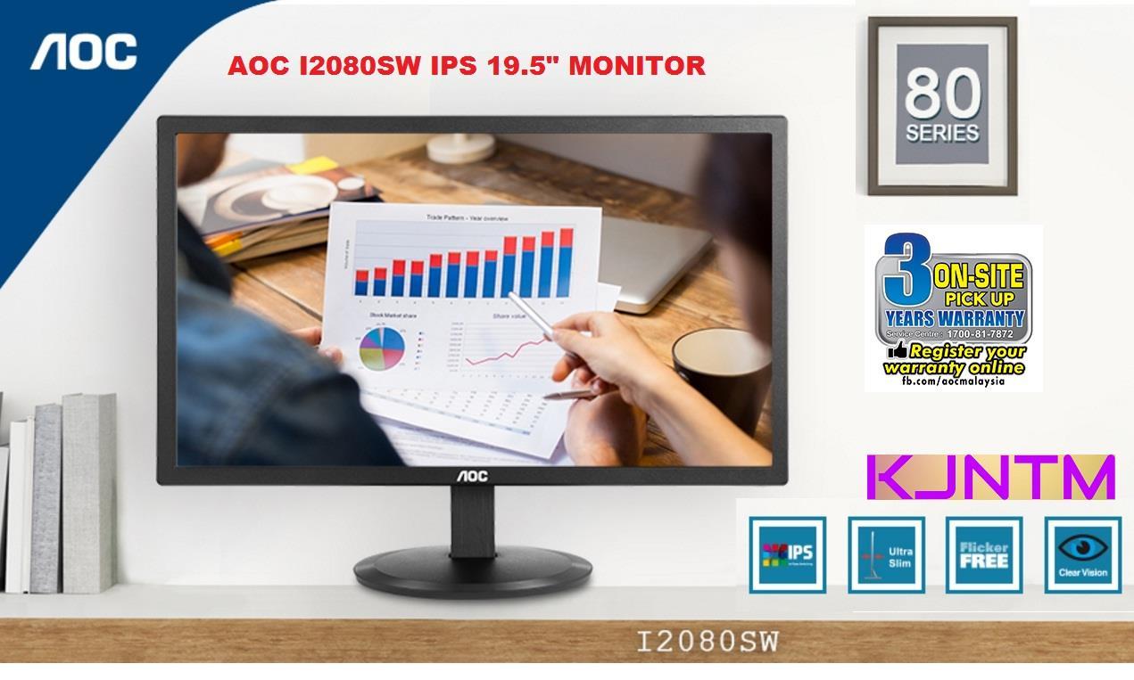 "AOC IPS I2080SW MONITOR 20"" SCREEN. ‹ ›"