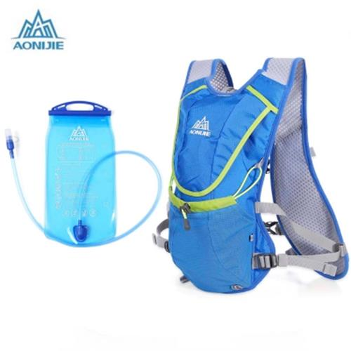 Aonijie 8l Uni Running Backpack With 1 5l Water Bag Blue