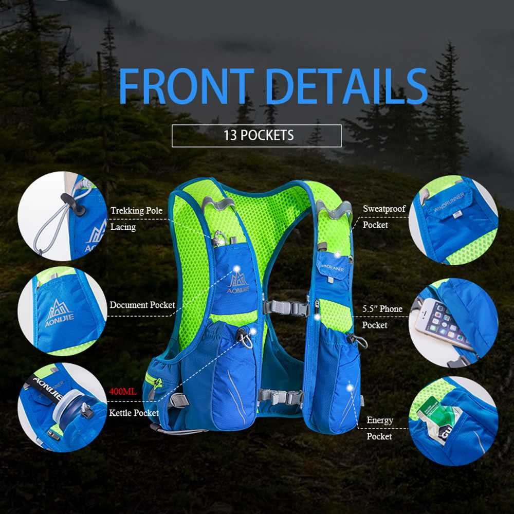 AONIJIE Hydration Pack Backpack with 2L Water Bladder for Cycling