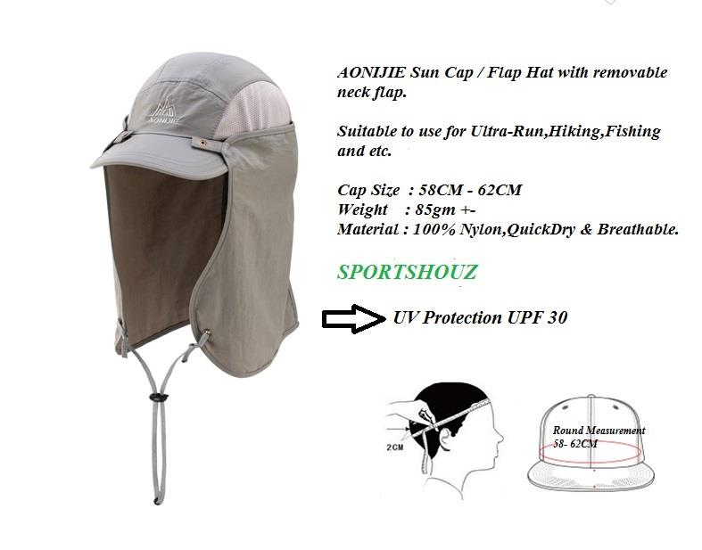 AONIJIE Sun Cap   Flap Hat with Remo (end 6 22 2019 9 01 AM) 2ccd87fb33c