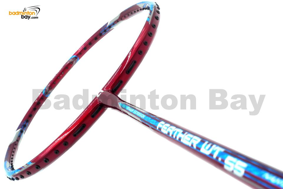 Apacs Feather Weight 55 Red Badminton Racket (8U) Lightest Racket