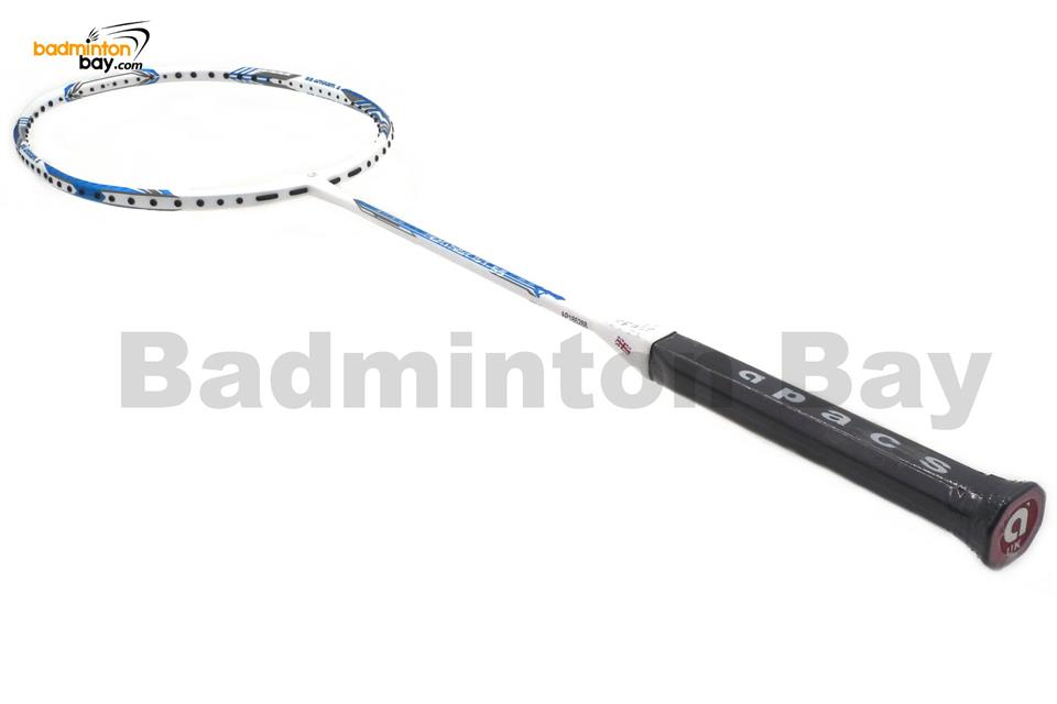 Apacs Feather Weight 55 White Badminton Racket (8U) Lightest Racket