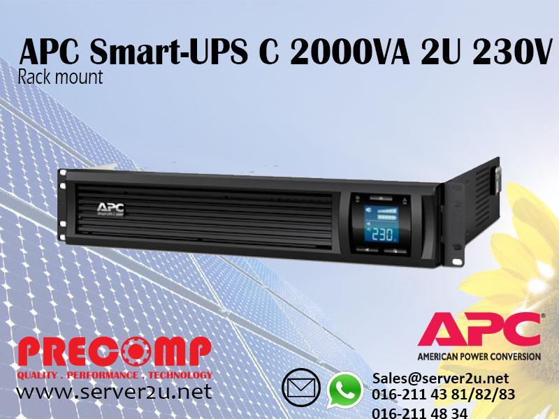 APC Smart-UPS C 2000VA 2U Rack mount 230V (SMC2000I-2U)
