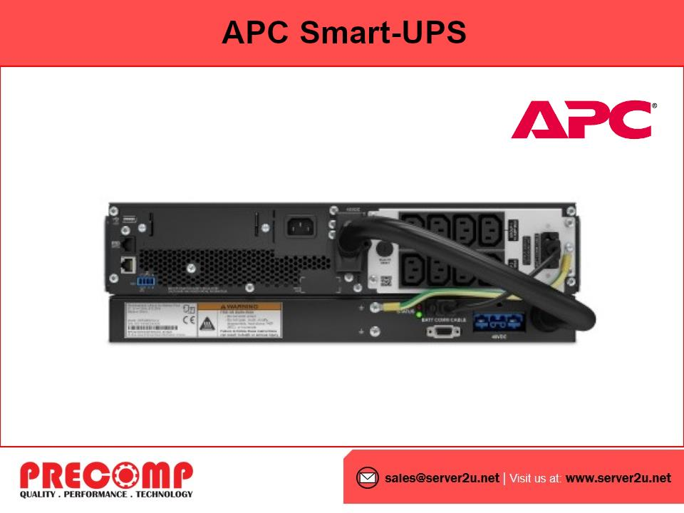 APC Smart-UPS SRT Li-Ion 1500VA RM 230V Network Card (SRTL1500RMXLI-NC