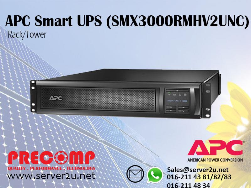 APC Smart-UPS X 3000VA Rack/Tower with Network Card (SMX3000RMHV2UNC)