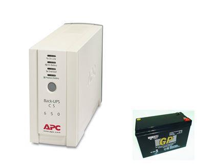 APC Back UPS CS 650VA UPS-Battery Replacement Service