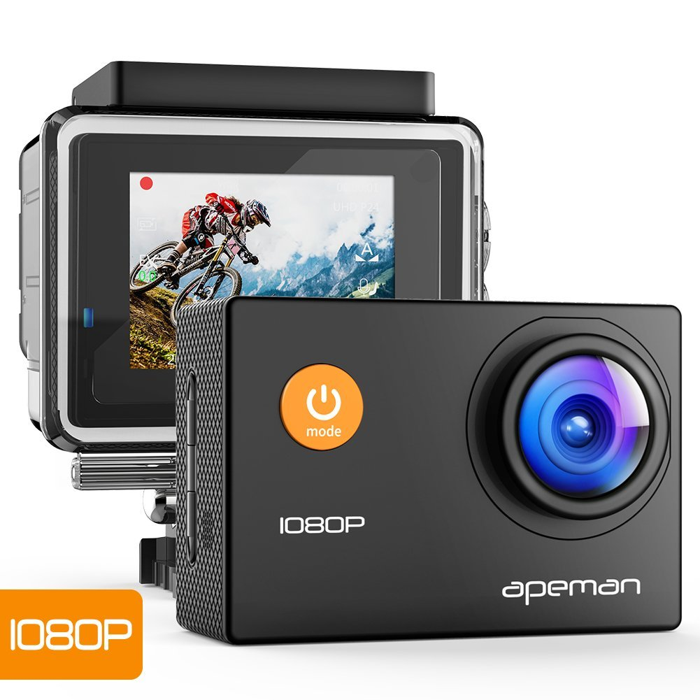 Apeman Action Camera A66 1080p pro Waterproof Image Stabilization