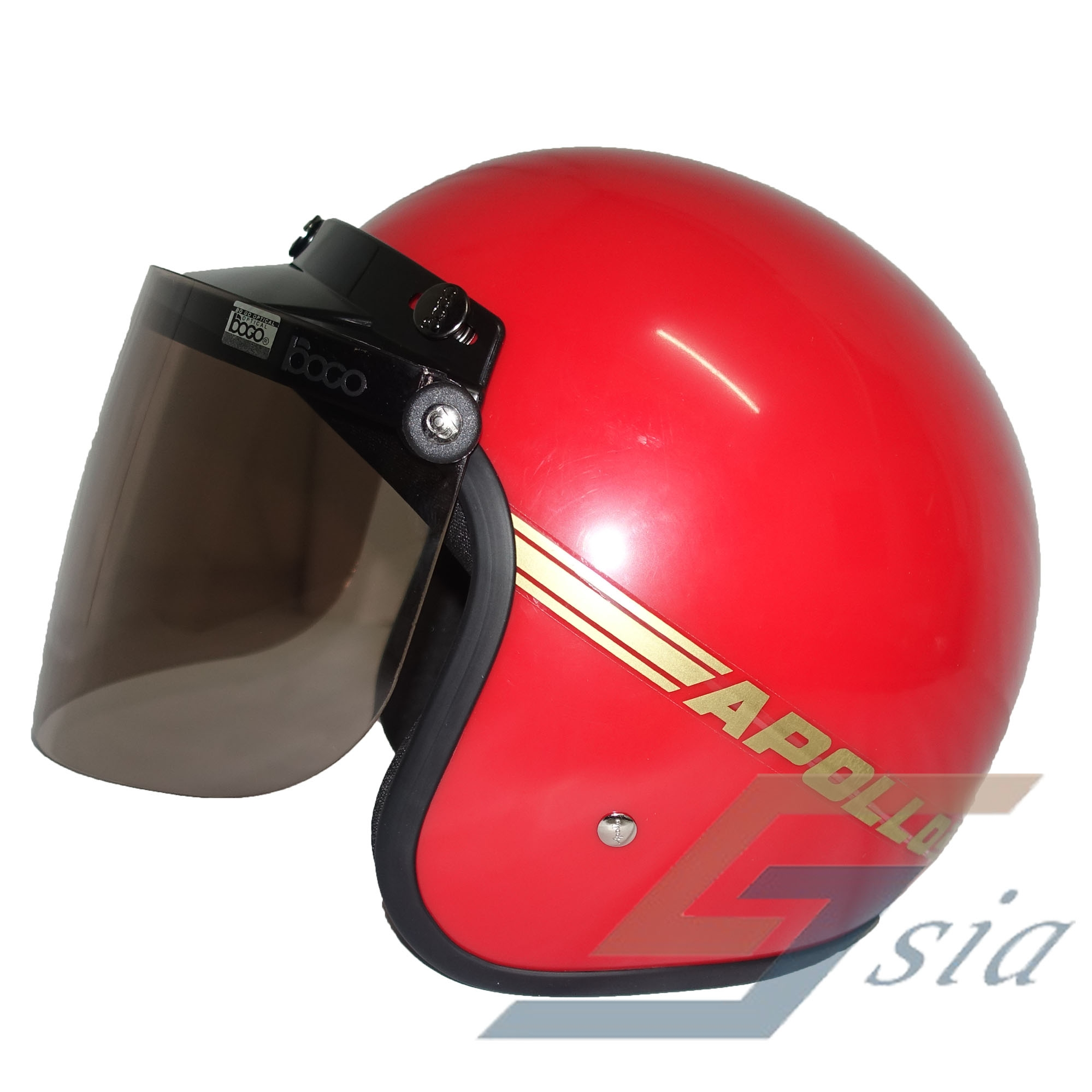Apollo GS Helmet (Red) + BOGO Visor (Tinted)