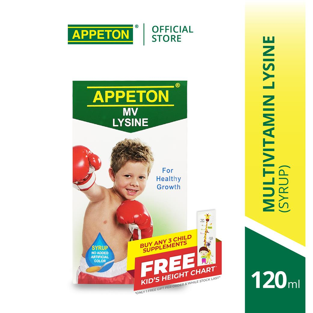 APPETON Multivitamin Lysine Syrup (120ml) Improved Appetite
