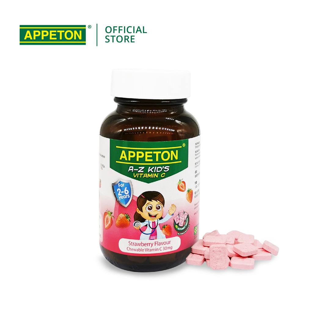 APPETON A-Z KID'S Vitamin C Chewable Tablet for 2-6 Year Old (Strwbry)