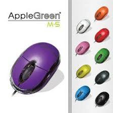 Apple Green 3D Wired USB Optical Mouse (Black)