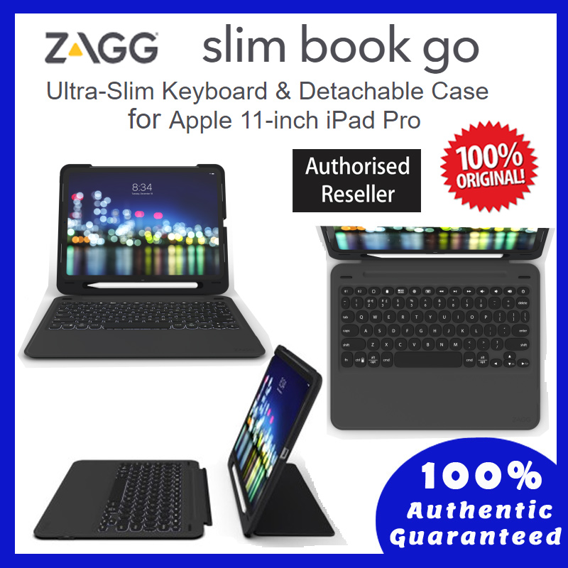 Apple iPad Pro 11 Inch - Original ZAGG-Keyboard Case - Slim Book Go