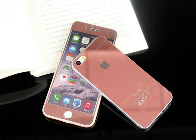 40bf8e64f73 APPLE IPHONE 4 4S 5 5S 6 6S PLUS ROSE RED MIRROR Tempered Glass. ‹ ›