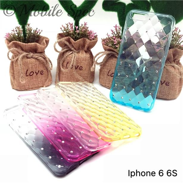 APPLE IPHONE 4 4S 5 5S 6 6S SOFT TPU SHINING DIAMOND CASE