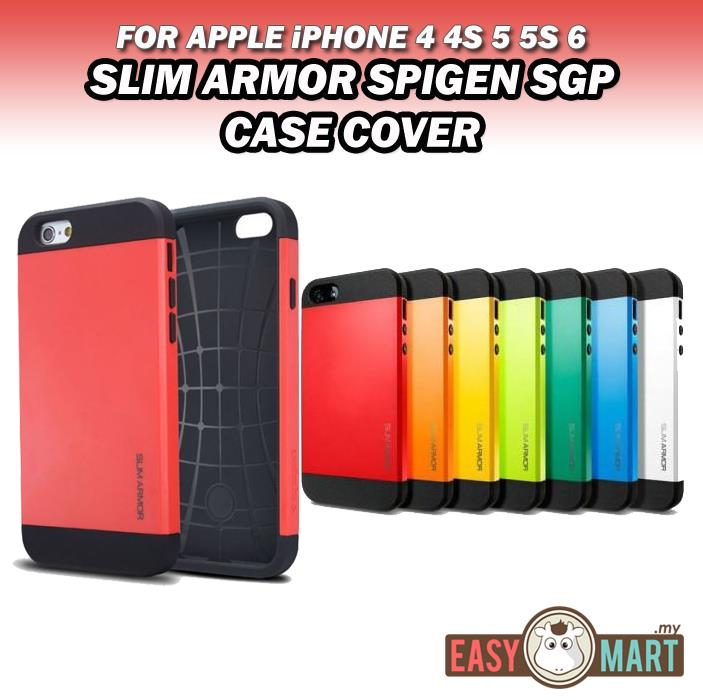 58252abf16 Apple iPhone 4 4S 5 5S SE 6 6S Slim Armor SPIGEN SGP Case Cover. ‹ ›