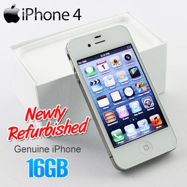 APPLE IPhone 4 WHITE 16GB Refurbished New Set Smartphone