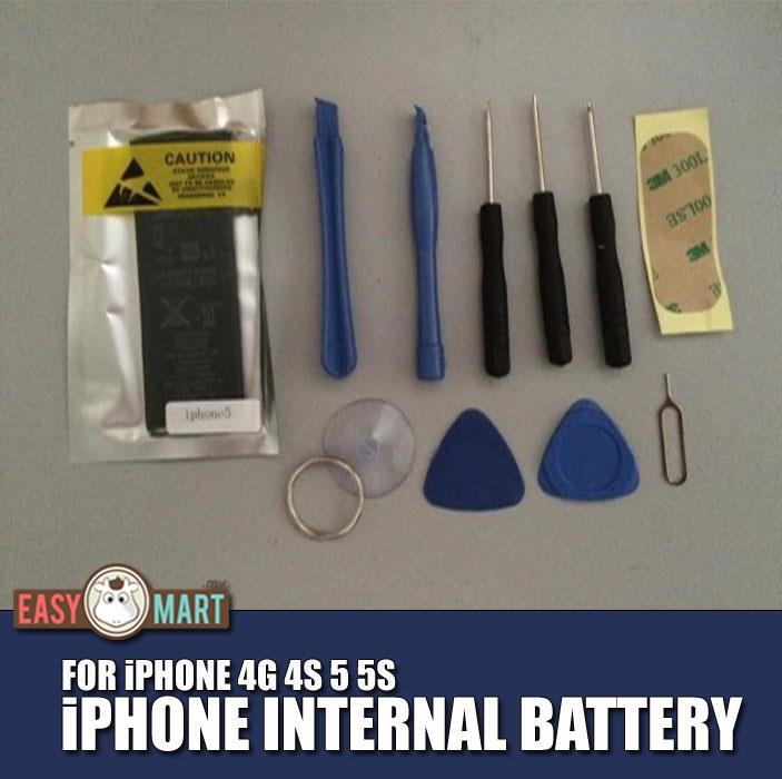 Apple iPhone 4G 4S 5 5S 6S Replacement Internal Battery +Tools
