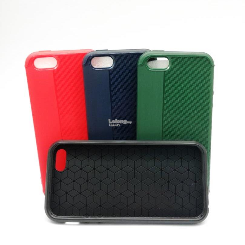 Apple iPhone 5 5s 6 6s 7 Plus Soft Carbon Color Case