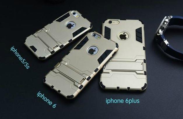 APPLE IPHONE 5 5S 6 6S PLUS IRONMAN TRANSFORMER TOUGH Case with STAND