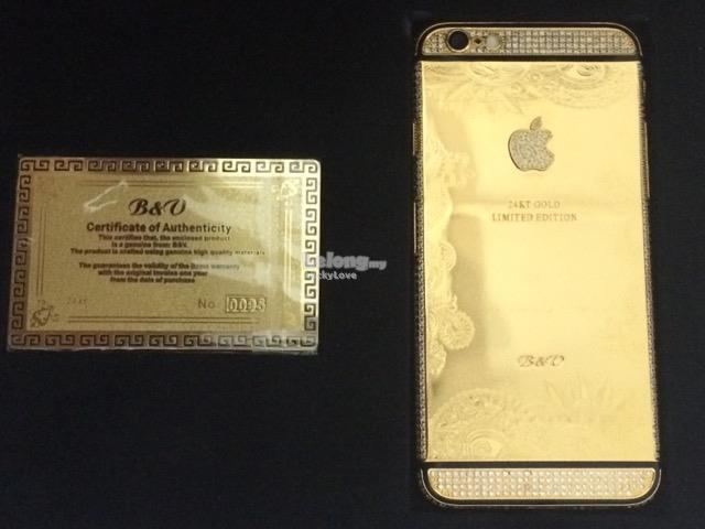 Apple Iphone 6 / 64 GB / Genuine 24K Gold Emas Handphone Phone Telefon