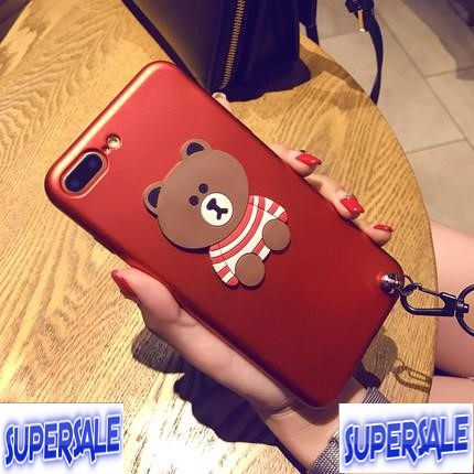 Apple iPhone 6/6s/6+/6s+/7/7+ cute bear mobile case protector cover