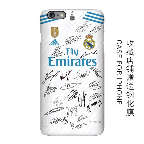 Apple iPhone 6/6s/6s+/6+/7/7+ real madrid mobile protection casing