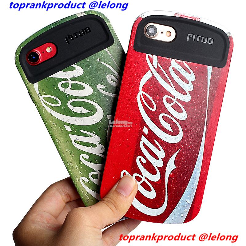 Apple iPhone 6 6S 7 8 Plus Coca Cola Tough Armor Case Cover Casing