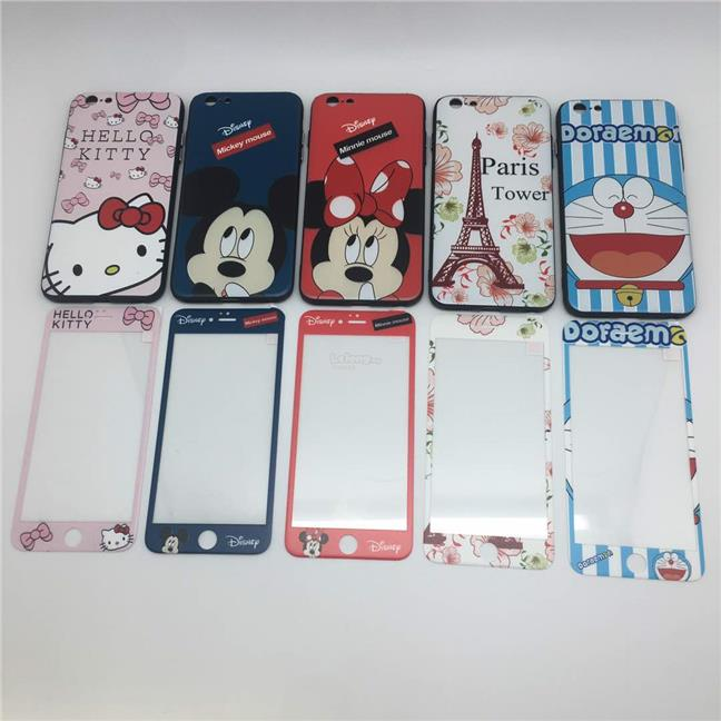 APPLE IPHONE 6 6S 7 PLUS CARTOON CASE ~ FREE TEMPERED GLASS