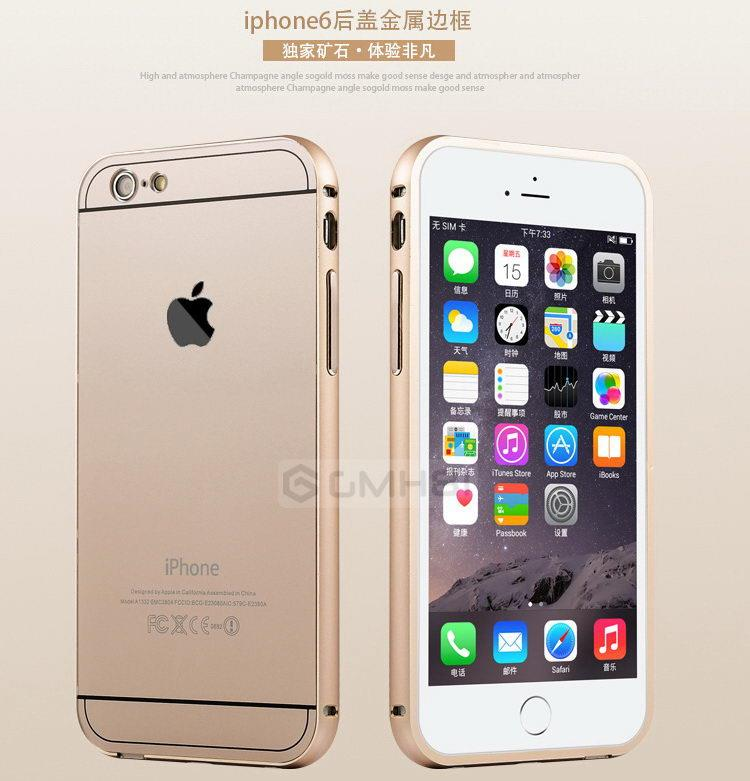 hot sale online 963b0 4ab10 Apple iPhone 6 6s Plus Aluminum Bumper + Back Acrylic Cover Case