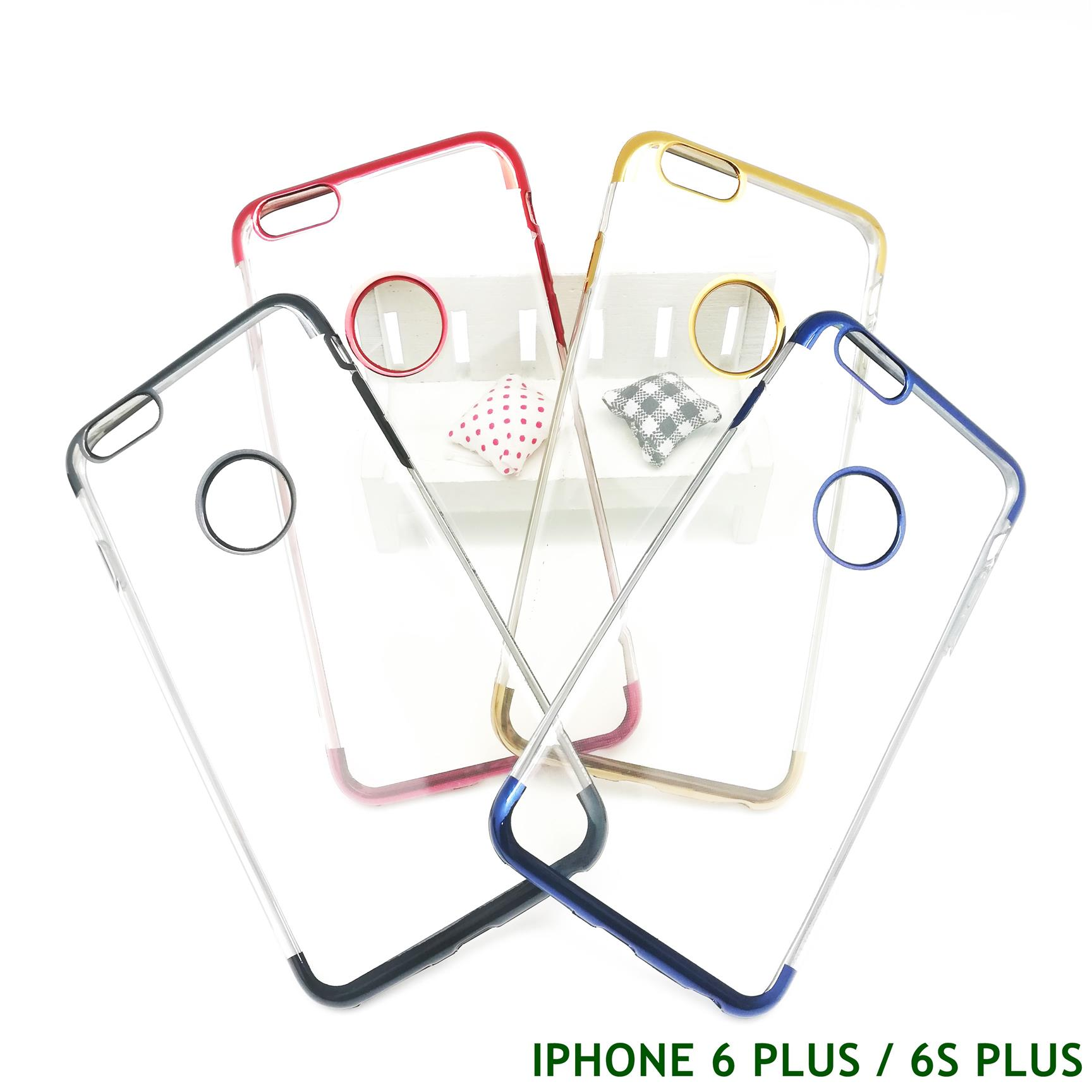 APPLE IPHONE 6 6S PLUS ELECTROPLATING TRANSPARENT CASE