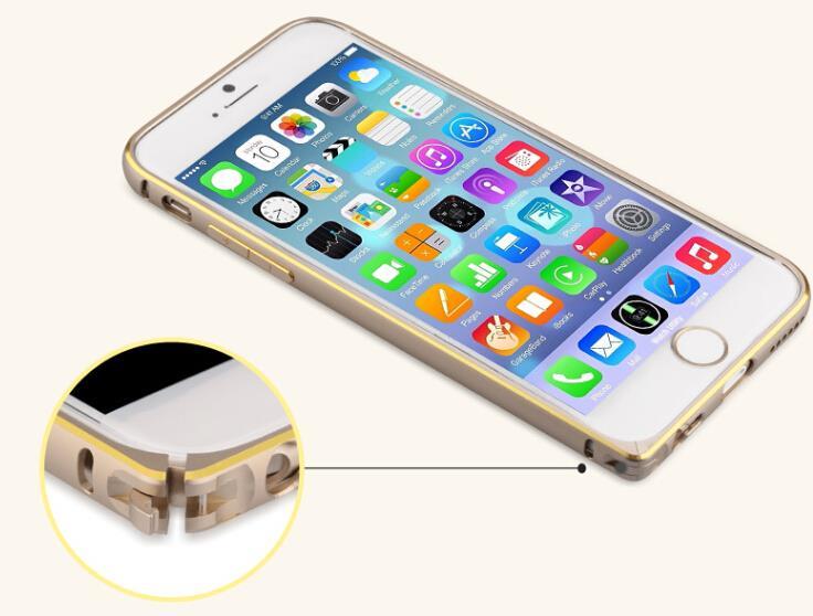 Apple IPhone 6 Plus GOLD Seahourse Lock Aluminium Bumper Case