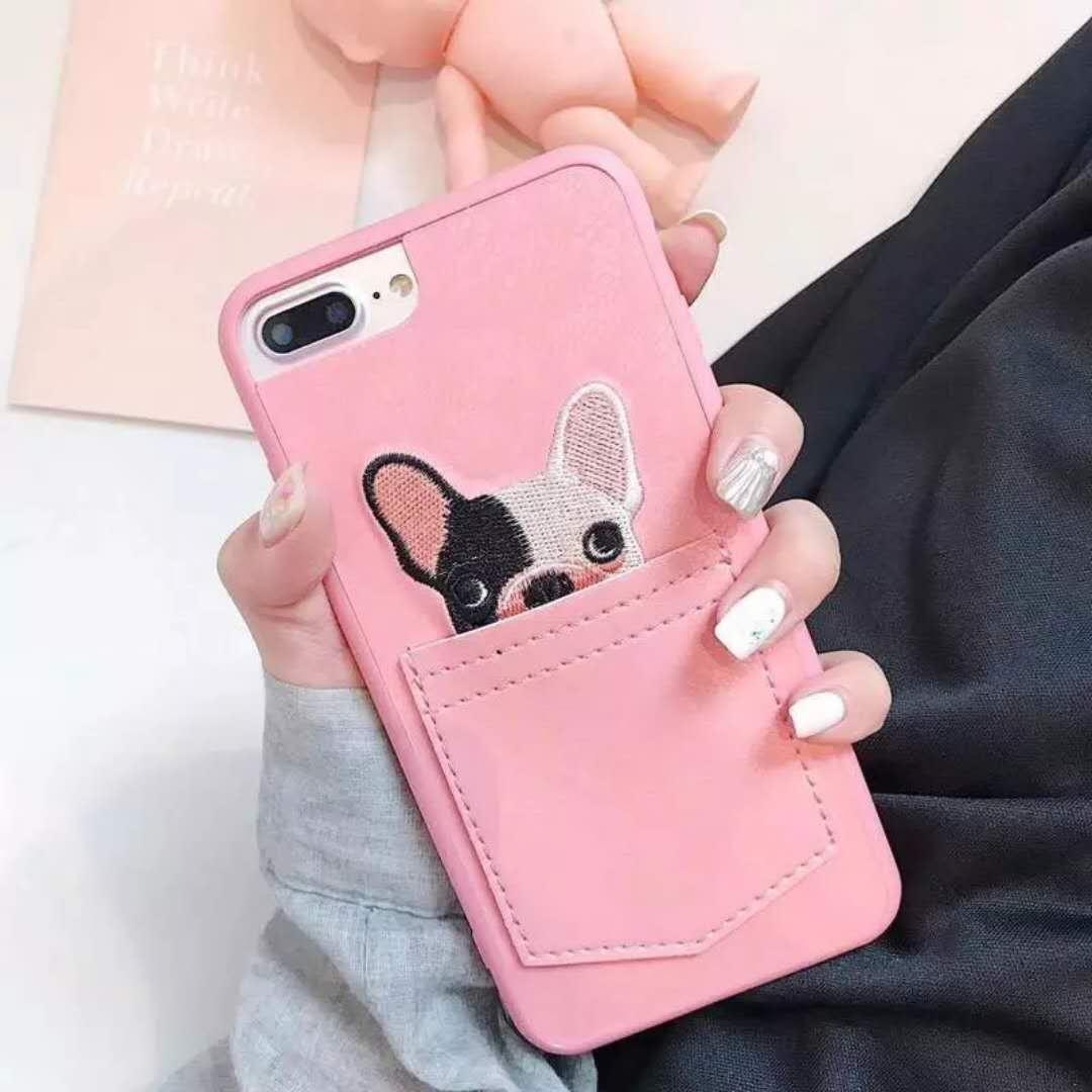 various colors 347ff 9bbfb Apple Iphone 6s Plus 6 Plus Dog Design Phone Case (Pink)