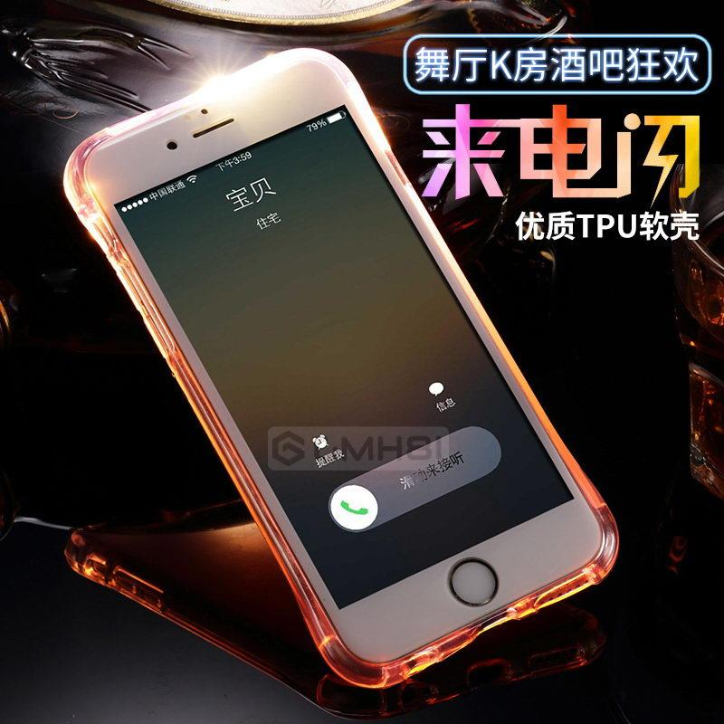 new product 5e138 7a7c4 Apple iPhone 7 6s 6 Plus 5s 5 SE LED Flash Notification Cover Case