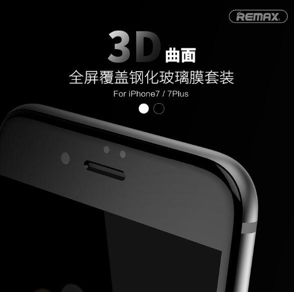 APPLE IPHONE 7 & 7 PLUS REMAX FULL Tempered Glass FREE CASE