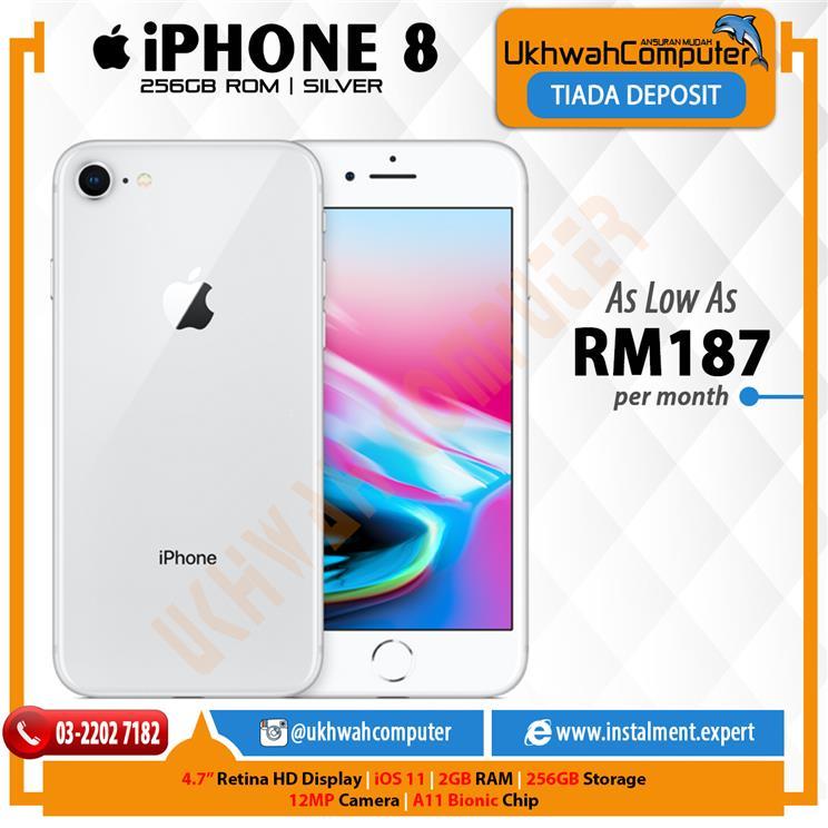 Apple iPhone 8 256GB Silver Ansuran AEON Serendah RM187